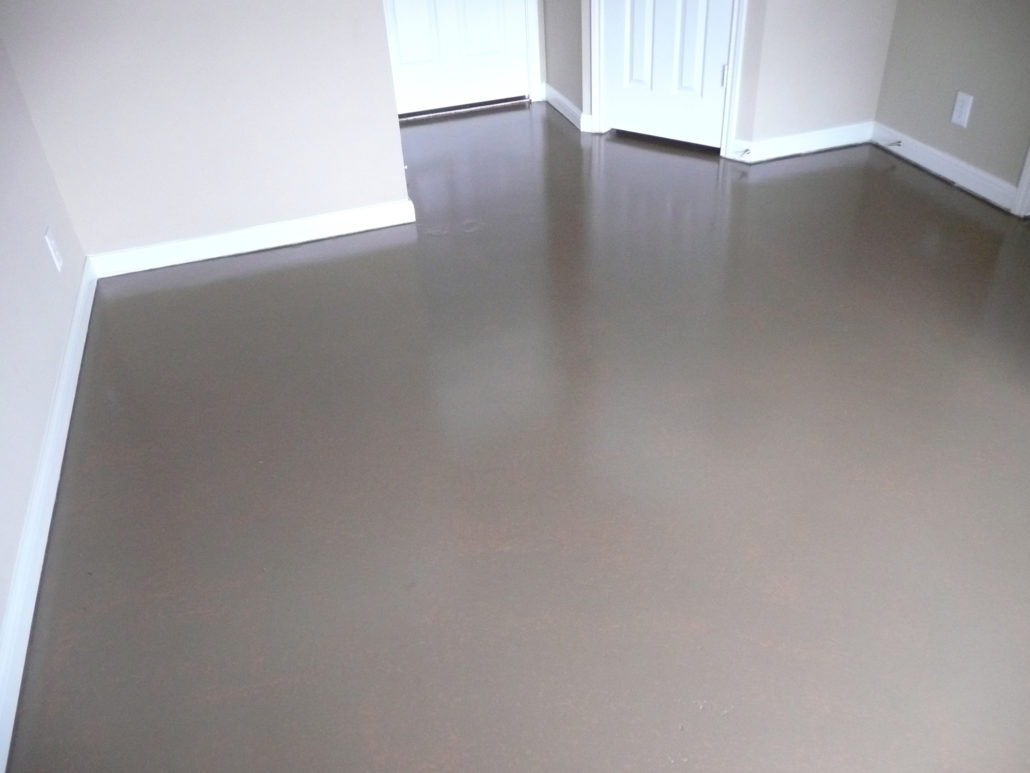 Concrete floor painting and sealing broom construction for Painting indoor concrete floors